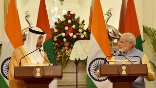 PM Narendra Modi at Exchange of Agreements & Press Statement with Crown Prince of Abu Dhabi | PMO