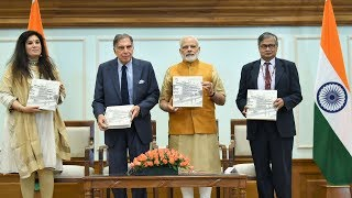 PM Modi releases the Platinum Jubilee Milestone Book of Tata memorial via VC | PMO
