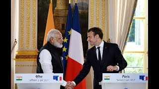 PM Modi at Joint Press Statements with President Emmanuel Macron of France in Paris, France | PMO