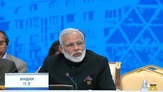 PM Modi's address at the Shanghai Cooperation Organisation Summit (SCO) Summit,  Astana, Kazakhstan