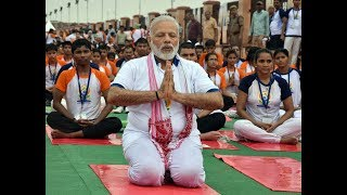 PM Modi at Mass Yoga Demonstration on the occasion of International Yoga Day in Lucknow | PMO