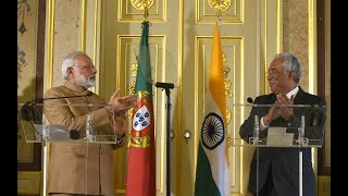 PM Modi at Joint Press Statements with PM of Portugal António Costa in Portugal | PMO