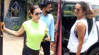 Malaika Arora And Amrita Arora Spotted At Diva Yoga Bandra