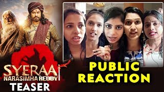 Sye Raa Narasimha Reddy Teaser | PUBLIC REACTION | Dr. Chiranjeevi | Amitabh Bachchan