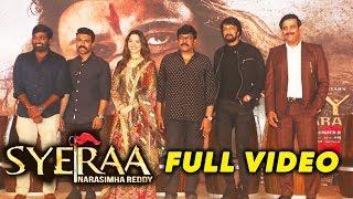 Syeraa Narasimha Reddy Teaser Launch | FULL VIDEO | Chiranjeevi,  Tamannaah, Ravi Kishan, Ram Charan