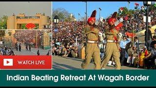 Watch Live!   Indian Beating Retreat At Wagah Border   Independence Day Celebrations   Satya Bhanja