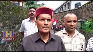 21 AUG N 15 ENDMP Ramswaroop Sharma took stock of flood in historic Panchavaktra temple Beas