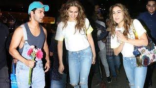 Coolie No. 1 Actors Varun Dhawan And Sara Ali Khan Arrives At Mumbai After Shoot | Airport Spotting