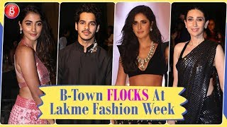 Bollywood Celebs FLOCK Manish Malhotra's Show At Lakme Fashion Week 2019