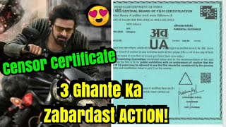 SAAHO Movie Gets Censor Certificate With 3 Hours Screen Time! Mazaa Aayega