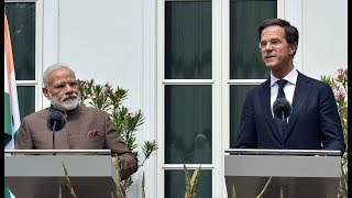 PM Modi's speech at Joint Press Statements with Mr Mark Rutte in Netherlands | PMO