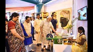 PM Narendra Modi's Visit to Textile India 2017 Exhibition in Gandhinagar, Gujarat | PMO