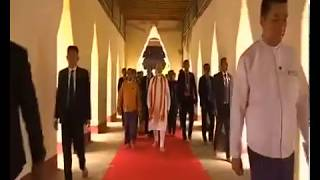PM Modi visited Ananda Temple in Bagan, Myanmar | PMO