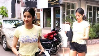 Gorgeous Janhvi Kapoor Snapped At Juhu Clinic - Watch Video