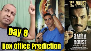 Mission Mangal Vs Batla House Box Office Prediction Day 8