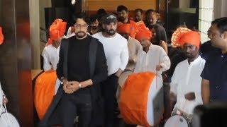 DHOL Tasha Entry | Pehlwaan Trailer Launch | Kichcha Sudeep | Suniel Shetty