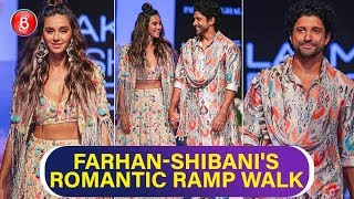 Farhan Akhtar & Shibani Dandekar Have Eyes Only For Each Other | Lakme Fashion Week