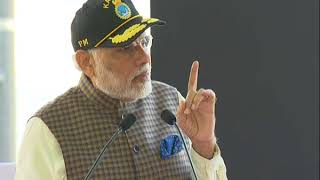 PM Modi's Speech at the dedication of Naval Submarine INS Kalvari to the Nation | PMO