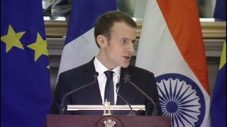 PM Modi & French President Emmanuel Macron at Exchange of Agreements and Joint Press Statement | PMO