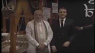 PM Modi and French President Macron visits Deen Dayal Hastkala Sankul | PMO