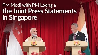 PM Modi and PM Loong at the Signing & Exchange of MOUs, & Joint Press Statements in Singapore | PMO