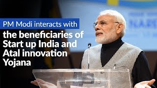 PM Modi interacts with the beneficiaries of Start up India and Atal innovation Yojana, via VC | PMO