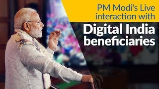 PM Modi interacts with beneficiaries of Digital India programme across the Nation, via VC   PMO