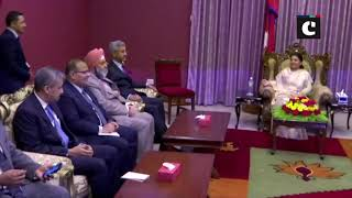 EAM S Jaishankar meets Nepalese Prez Bidya Devi Bhandari ahead of 5th Joint Commission Meeting