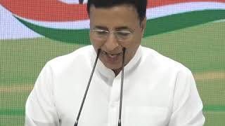 AICC Press Briefing by Randeep Singh Surjewala on the BJP Vendetta Politics