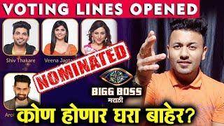 Shiv, Kishori, Veena, Aroh NOMINATED | Voting Lines Opened | BIgg Boss Marathi 2 Latest Update