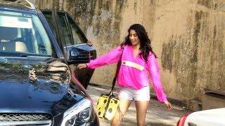 Gorgeous Janhvi Kapoor Spotted At Pilates Gym Khar