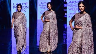 Malavika Mohanan  Walks The Ramp For Vineet Rahul At Lakme Fashion Week 2019
