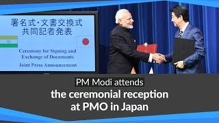 PM Modi at the Signing & Exchange of Agreements and Joint Press Meet with PM Abe in Tokyo, Japan