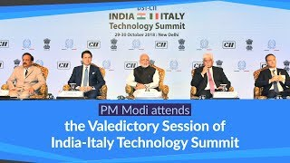 PM Modi attends the Valedictory Session of India-Italy Technology Summit in New Delhi, India | PMO