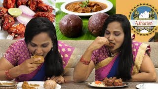 Ragi Sankati Natukodi Chicken Curry | Aharam Hotel | Telugu Food Channel | Top Telugu TV