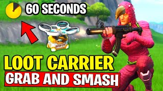 DESTROY LOOT CARRIERS WITHIN 60 SECONDS AFTER LANDING FROM THE BATTLE BUS - GRAB & SMASH CHALLENGES