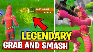 PICK UP A LEGENDARY ITEM IN DIFFERENT MATCHES - GRAB and SMASH CHALLENGES FORTNITE