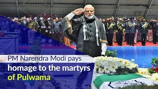 PM Narendra Modi pays homage to the martyrs of Pulwama at Palam Airport, Delhi | PMO