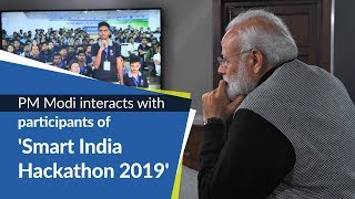 PM Modi interacts with participants of 'Smart India Hackathon 2019' | PMO