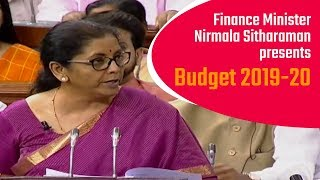 Finance Minister Shrimati Nirmala Sitharaman presents Budget 2019-20 in Parliament | PMO