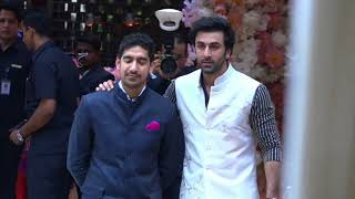 Ranbir Kapoor At Akash Ambani & Shloka engagement