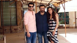 Sunny Deol With His Son Karan Deol Snapped Promoting His Film Pal Pal Dil Ke Paas