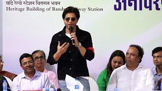 UNCUT - Shahrukh Khan Inaugurate Postage Stamp With Ashish Shelar | Bandra Railway Station
