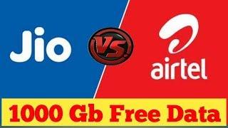 Airtel 1000 GB Free Data Offer   Jio GigaFiber Vs Airtel V-Fiber   Top Telugu TV