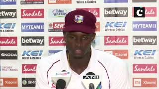 'No point in dropping our heads': WI Skipper Holder after losing against India in 1st test