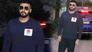Arjun Kapoor Spotted At Sunny Super Sound For Dubbing Of His Upcoming Film Panipat