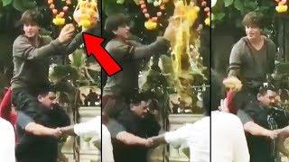 (Video) Shahrukh Khan BREAKS Dahi Handi At Mannat | Krishna Janmashtami 2019