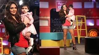 Esha Deol With Daughter Radhya Takhtani Walks Hand-In-Hand At Lakme Fashion Week 2019