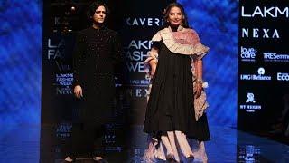 Shabana Azmi And Vijay Varma Walks The Ramp At Lakme Fashion Week 2019