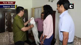 Kiren Rijiju meets PV Sindhu says shuttler made India proud